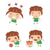 小女孩 — 图库矢量图片