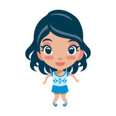 Cute Girl — Stock Vector
