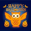 Stock Vector: Happy Owl Halloween