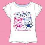 Traveler Cats T-shirt — Stock Vector #34316967