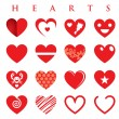 Hearts illustration Vector Set — Stockvectorbeeld