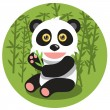 Cute Panda — Stock Vector