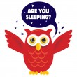 Owl - Good Night — Vector de stock