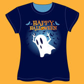 Halloween T-shirt — Stock Vector