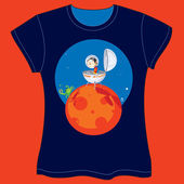 Space Capsule T-shirt — Stock Vector