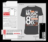 T-Shirt Design, Print Design — Stock Vector