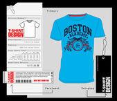 T-shirt-design, print-design — Stockvektor