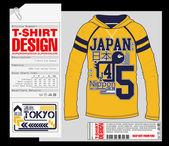 T-shirt tasarım, baskı tasarımı — Stok Vektör