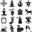 New Year's icons — Stock Vector