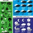 Weather and nature — Vector de stock