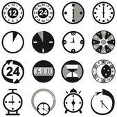 Uhrzeiger — Stockvektor