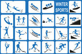 Winter sports — Stock Vector