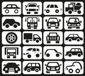 ícones de carro — Vetor de Stock