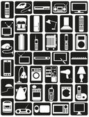 Household appliances icons — ストックベクタ