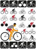 Bicyclist — Stock Vector