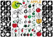 Apple icons — Stock Vector