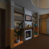 Klassieke interieur — Stockfoto