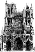 Amiens Gothic cathedral — Stock Vector