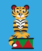 Tiger in the circus — Vector de stock