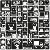 Icons shop — Stock Vector