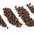 Coffee beans closeup — Stock Photo