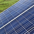 Solar panels in countryside — Stock Photo
