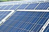 Solpaneler på landsbygden — Stockfoto