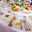 Stock Photo: Served for banquet table
