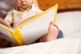 Reading child — Stock Photo