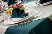 Table set for an event — Stock Photo