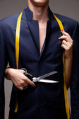 Sewing new suit — Stock Photo
