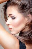 Porträtt av en vacker kvinna — Stockfoto