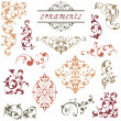 Victorian Scroll Ornaments — Stock Vector
