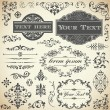 Vintage Ornament Set — Stock Vector #37066615