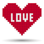 Pixel Heart Love — Vector de stock