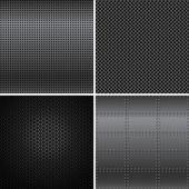 Black Metal Textures — Wektor stockowy