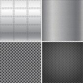 Silver Metal Textures — Stockvector