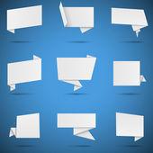 White Origami Speech Bubbles — ストックベクタ