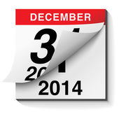 Happy New Year 2014 Calendar — Vettoriale Stock