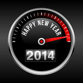 Happy New Year 2014 Dashboard Background — Stock Vector