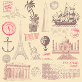 Vintage Travel Design Elements — Stock Vector