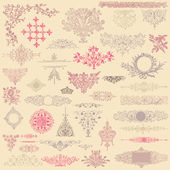 Vintage Ornaments Set — Stockvektor