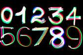 Numeri incandescenti — Foto Stock