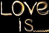 Love is fire illustration — Stock Photo