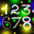 Glowing numbers — Stock Photo