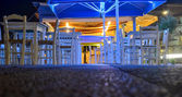 Cafe terrace at night — Stock Photo