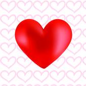 Kırmızı kalp vektör — Stok Vektör