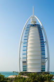 DUBAI, UAE - December, 11: Burj Al Arab hotel on December, 11, 2 — Stock Photo