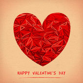 Happy Valentine's Day Greeting Card. Bitmap of Vector illustration — Stock Photo