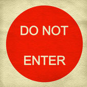 Do not enter sign on paper background — Stock Photo